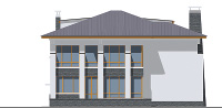Проект кирпичного дома 40-57 фасад