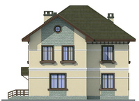 Проект кирпичного дома 40-68 фасад