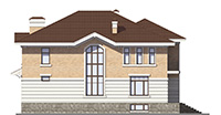 Проект кирпичного дома 40-71 фасад