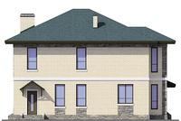 Проект бетонного дома 40-73 фасад