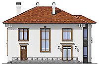 Проект кирпичного дома 40-96 фасад