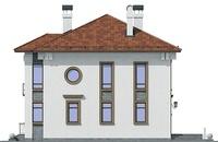 Проект кирпичного дома 40-97 фасад