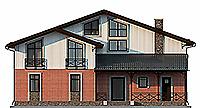 Проект кирпичного дома 41-05 фасад