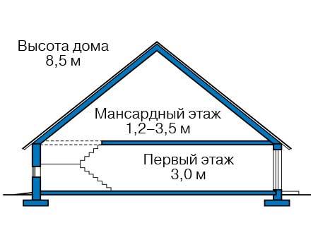 Проект кирпичного дома 41-07 план