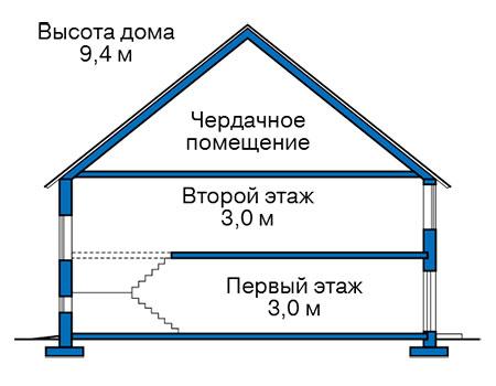 Проект кирпичного дома 41-13 план