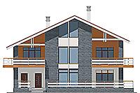 Проект кирпичного дома 41-27 фасад