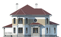 Проект кирпичного дома 41-51 фасад