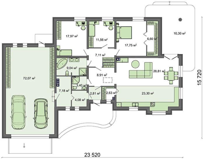 проект дома 4m647 план