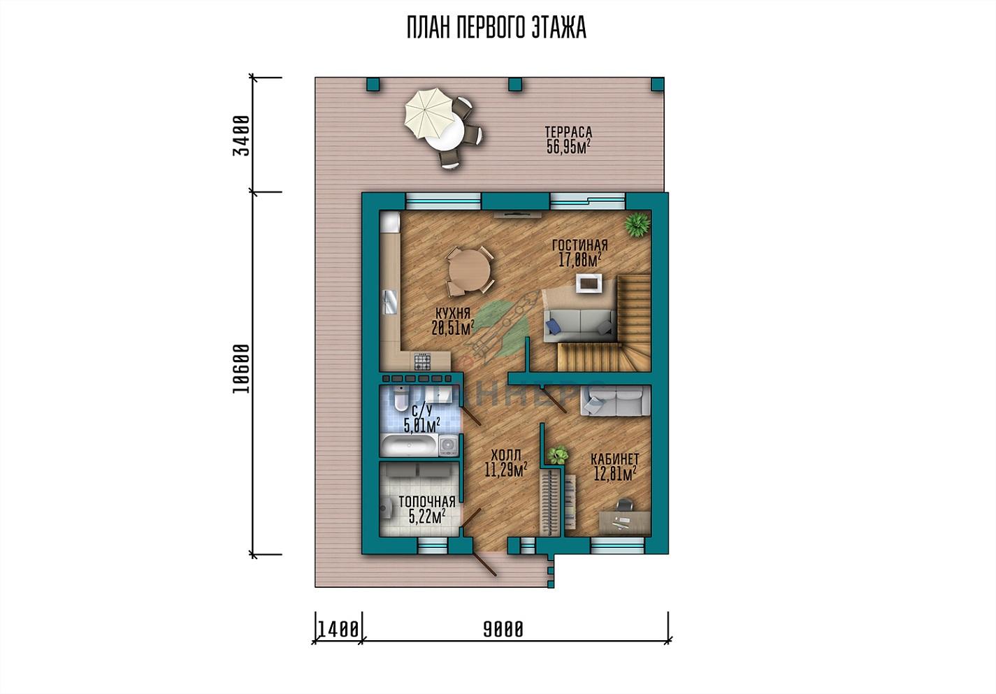 Проект дома 051-168-1М план