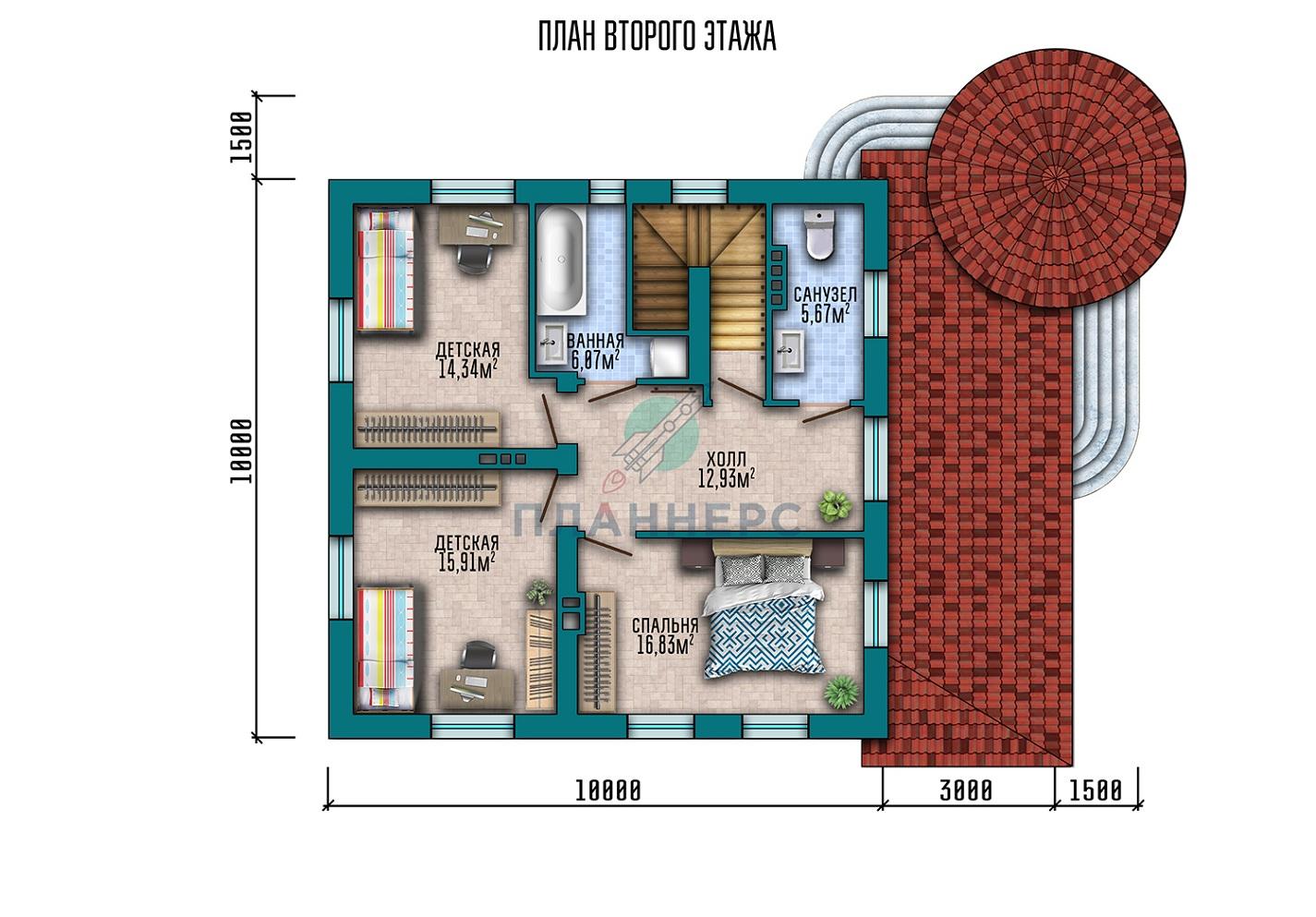 Проект дома Планнерс 023-245-2П план