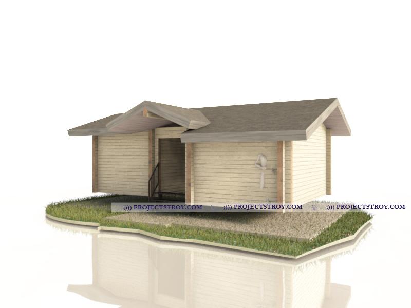 Беседка с огородным домиком или хозблоком фасад