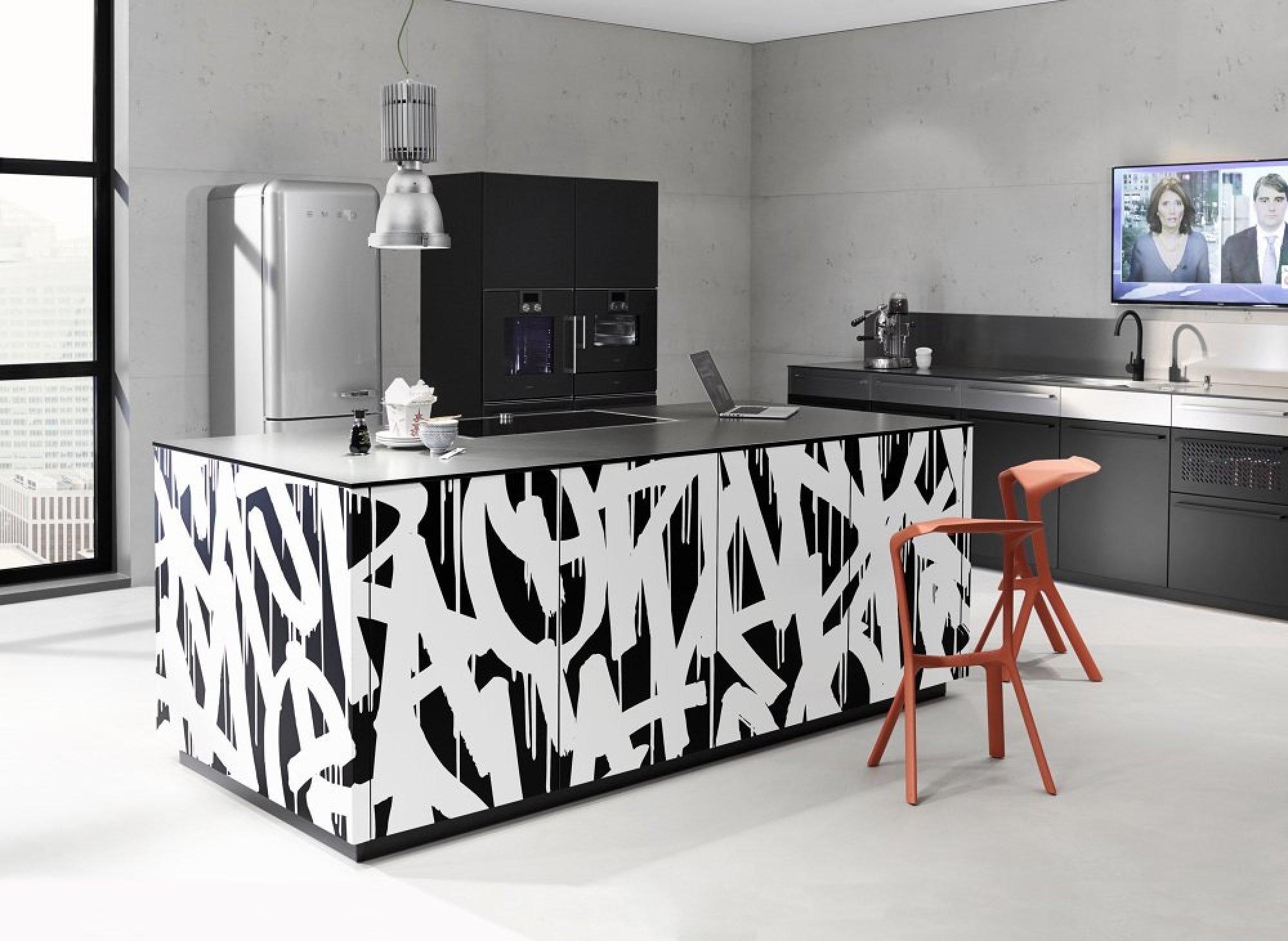 Граффити на кухне