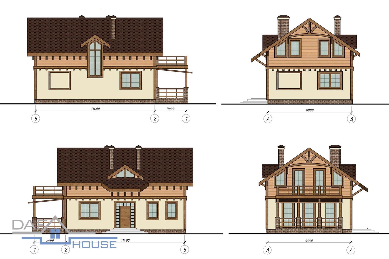 Проект В5374 фасад