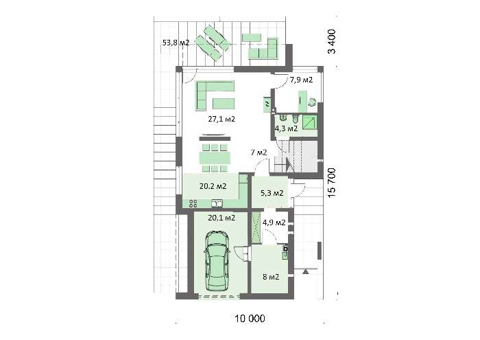 Проект дома 4m707 план