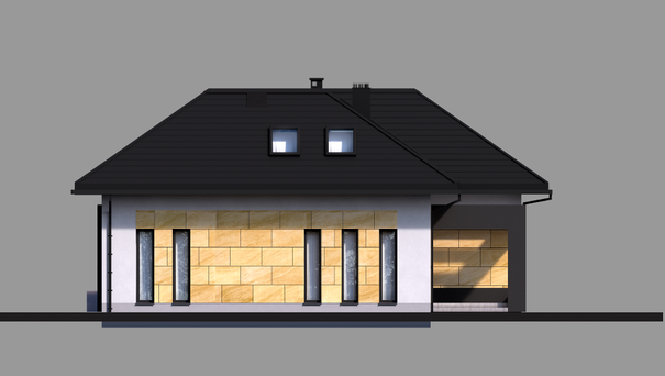 Проект дома 4m708 фасад
