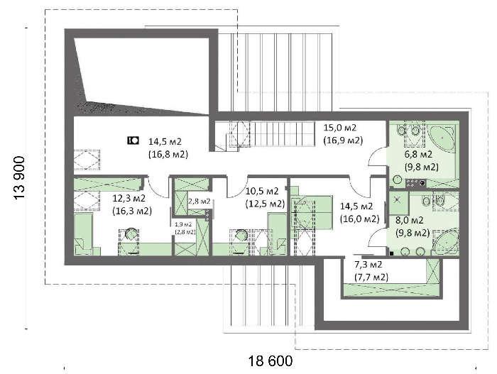 Проект дома 4m708 план