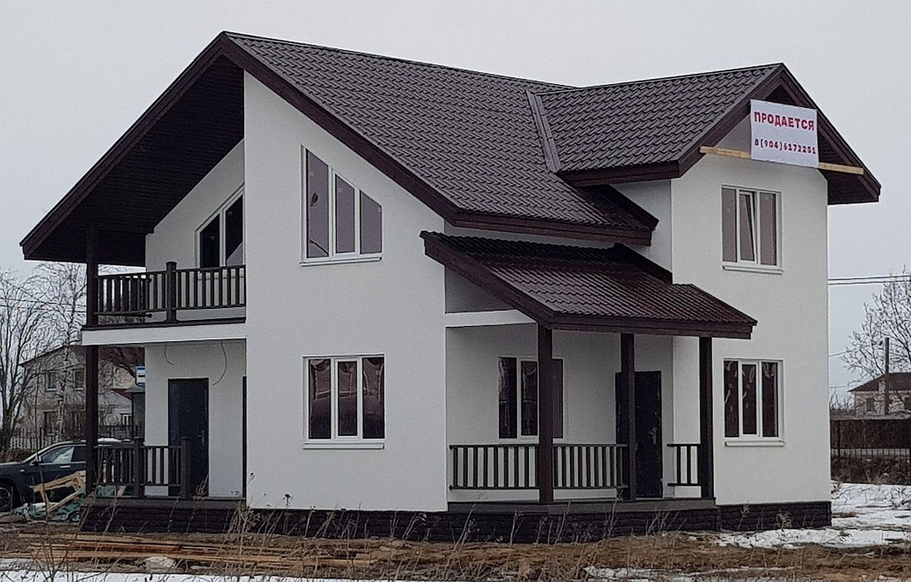Готовый проект коттеджа 126 кв. м / Артикул СМ-115 фасад
