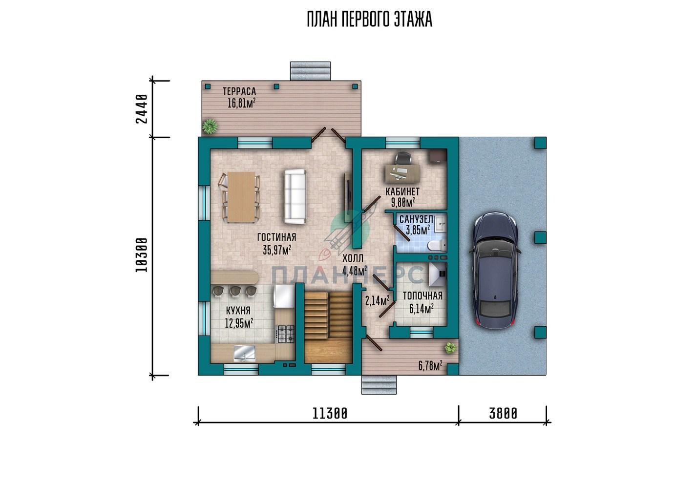 Проект Планнерс 020-166-1МГ план