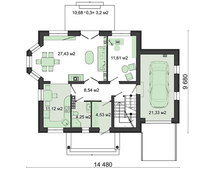 Проект дома 4m3097 план