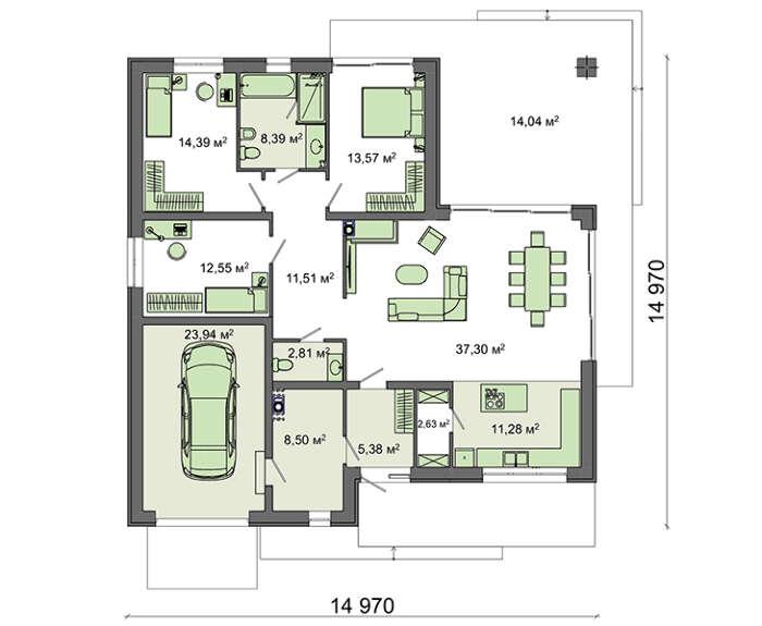 Проект дома 4m788 план