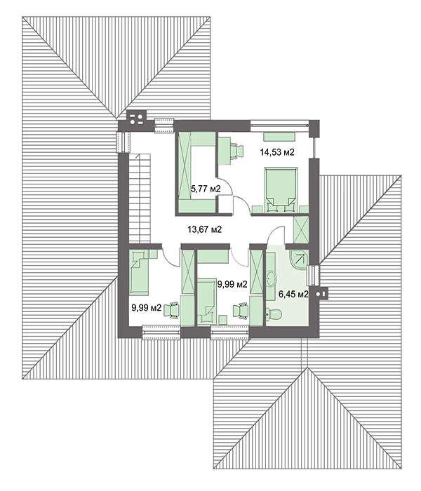 Проект дома 4m739 план