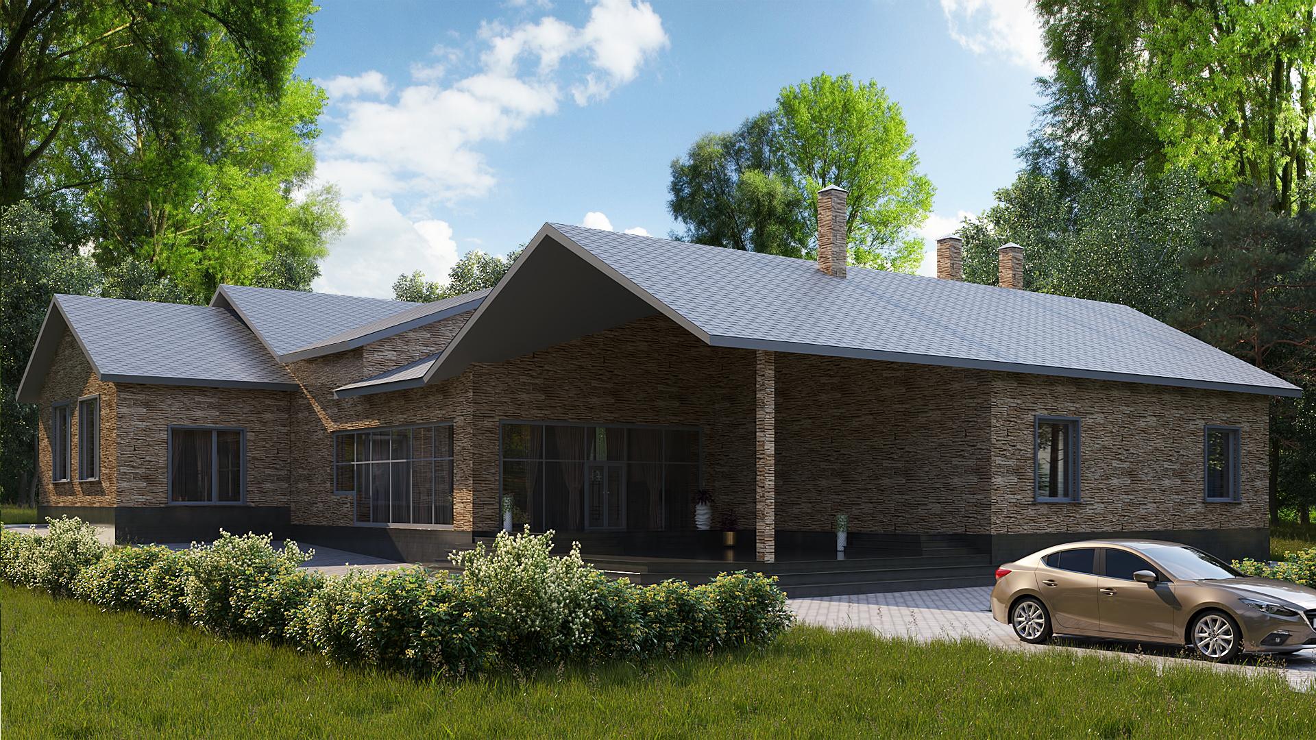 Готовый проект особняка 330 кв.м / ДК-156 фасад