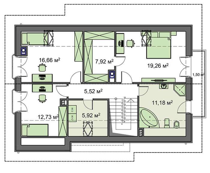 Проект дома 4m799 план