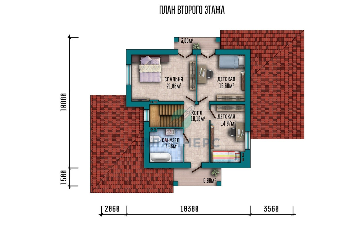 Проект дома Планнерс 017-144-1МГ план