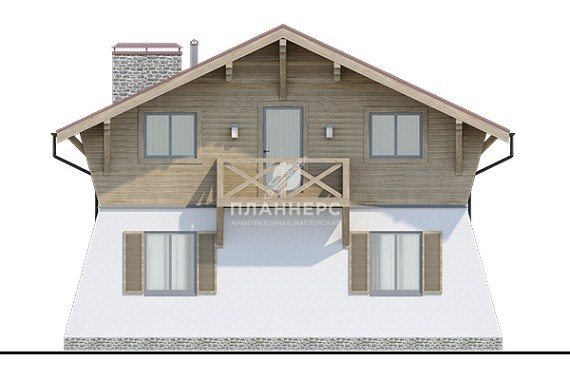 Проект дома Планнерс 025-105-1М фасад