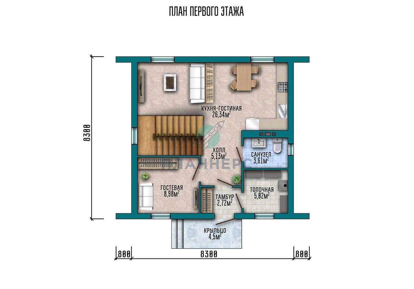 Проект дома Планнерс 025-105-1М план
