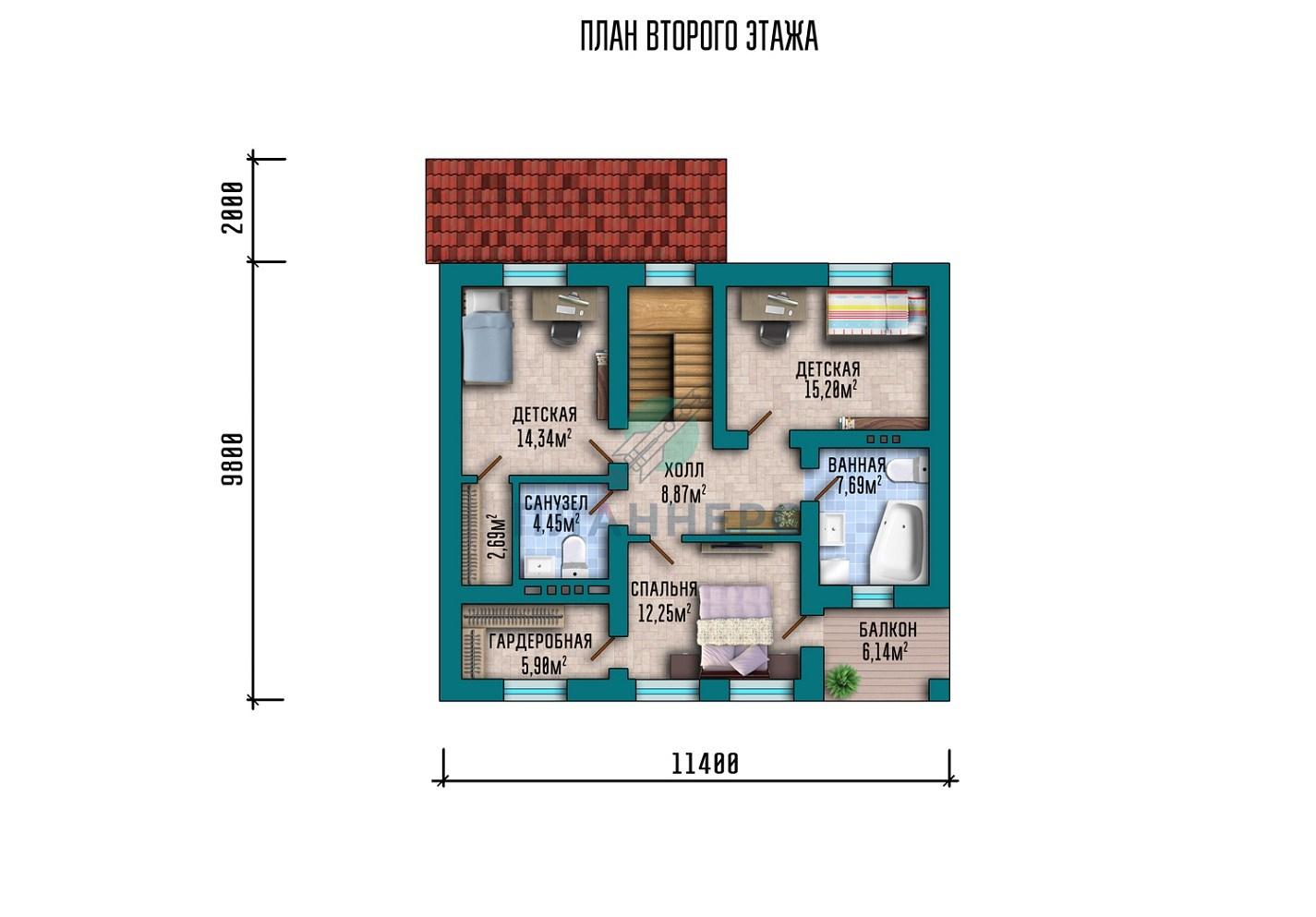 Проект дома Планнерс 018-152-1М план