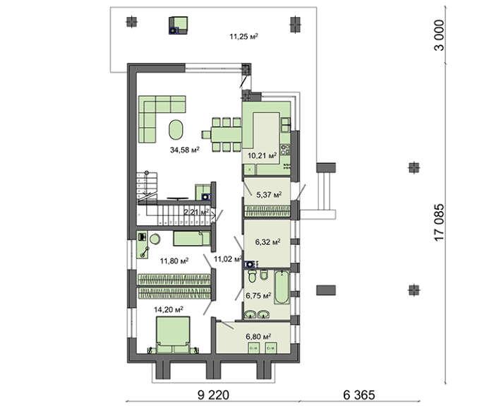 Проект дома 4m729 план