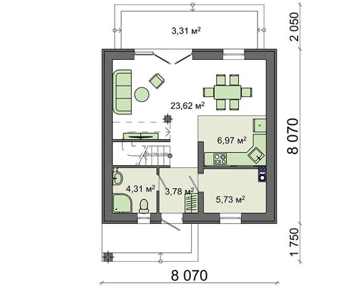 Проект дома 4m790 план