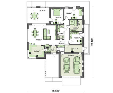 Проект дома 4m722 план