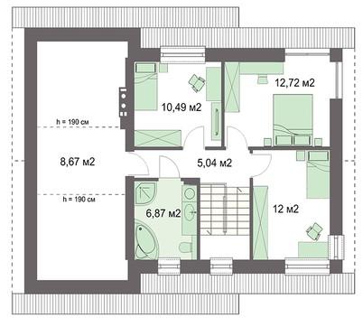 Проект дома 4m745 план