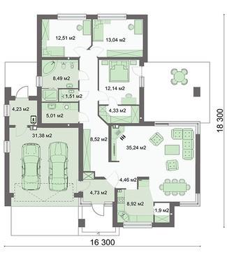 Проект дома 4m780 план