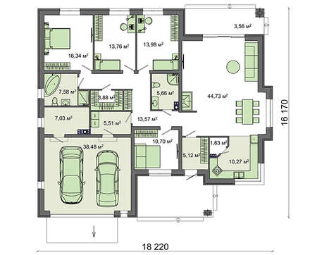 Проект дома 4m764 план