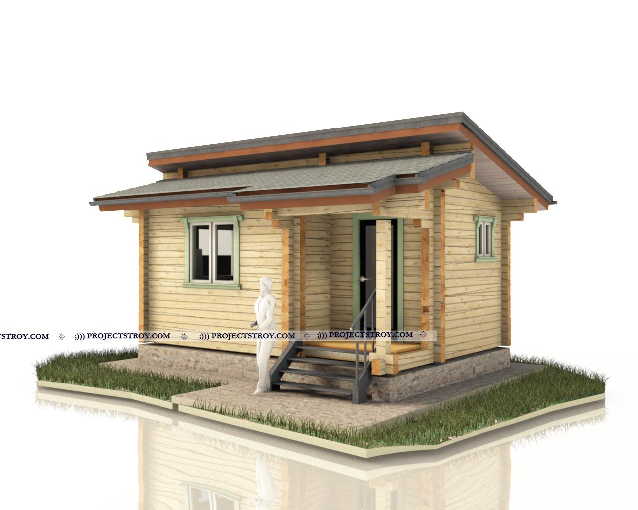 Небольшой домик или первая дачная постройка фасад