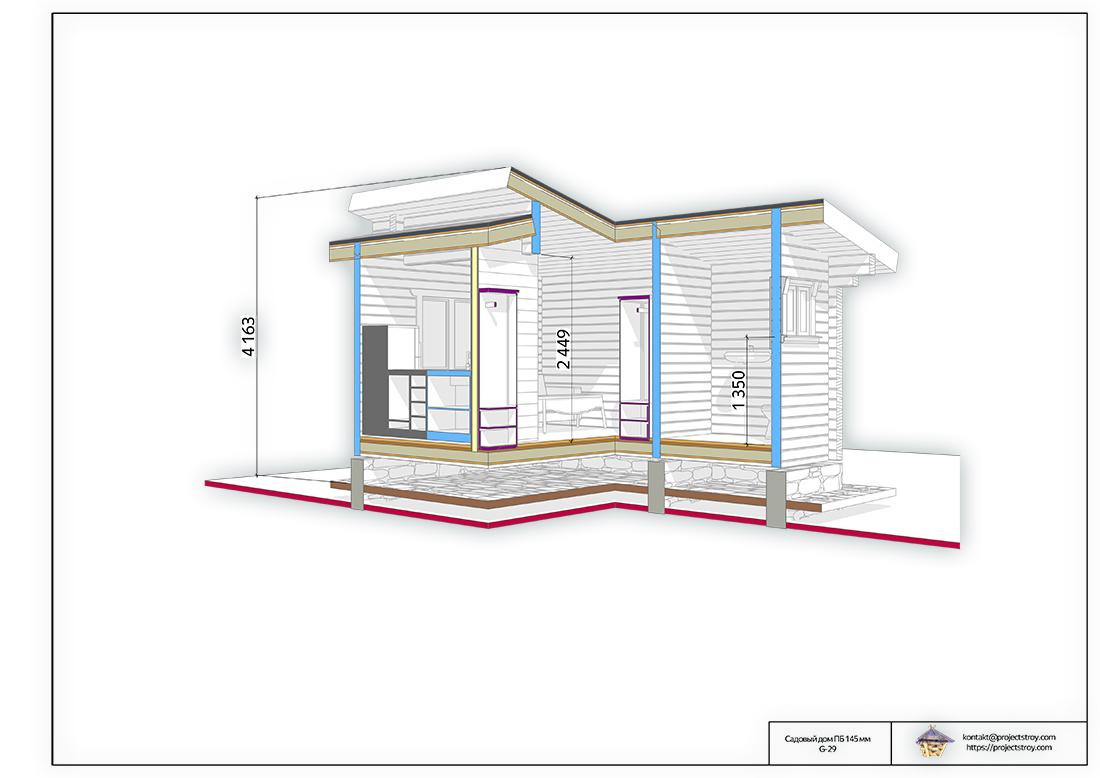 Небольшой домик или первая дачная постройка план