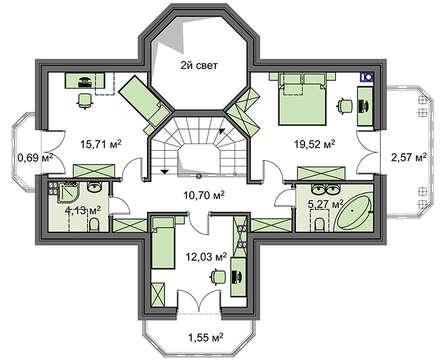 Проект дома 4m1442 план
