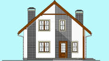 Проект дома 4m1443 фасад