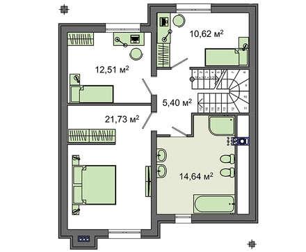 Проект дома 4m1443 план