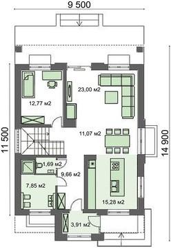 Проект дома 4m041 план