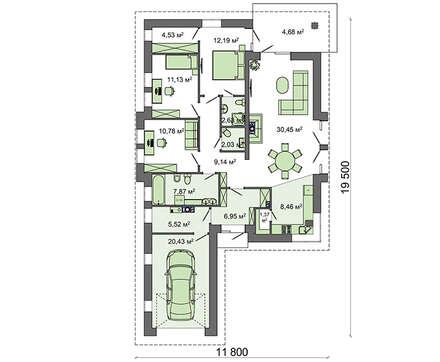 Проект дома 4m635 план