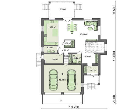 Проект дома 4m1447 план
