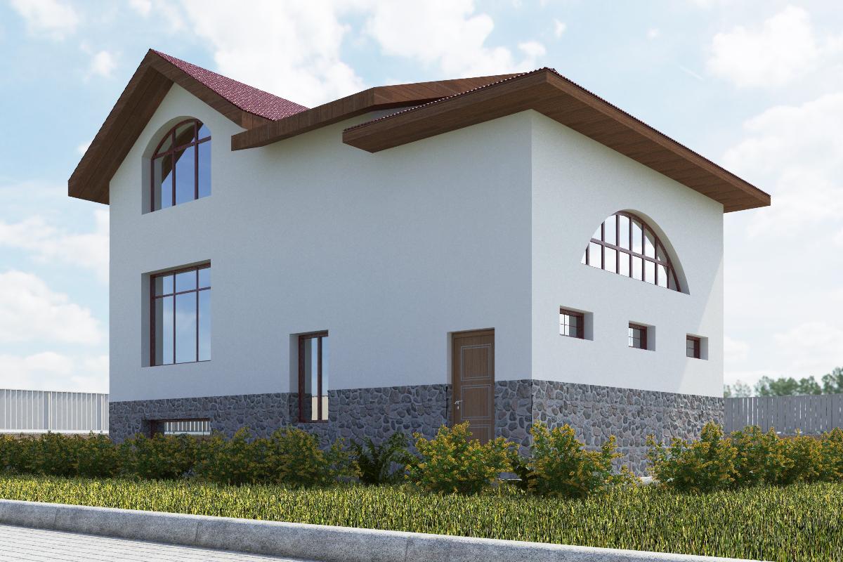 Готовый проект коттеджа 153 кв. м / Артикул СВ-52 фасад