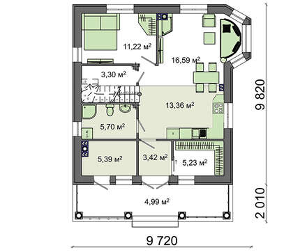 Проект дома 4m1446 план