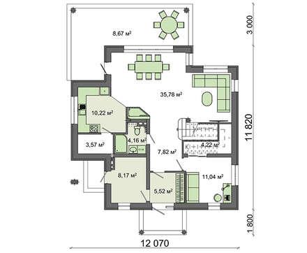 Проект дома 4m1445 план