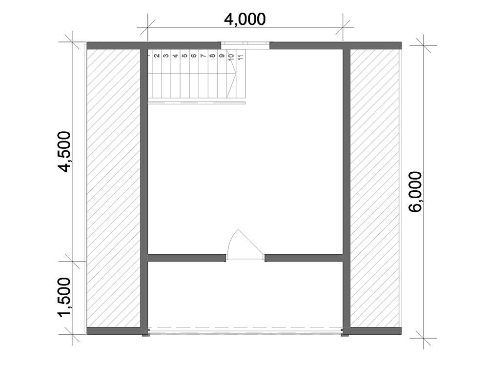 Баня из бруса 6х6 план
