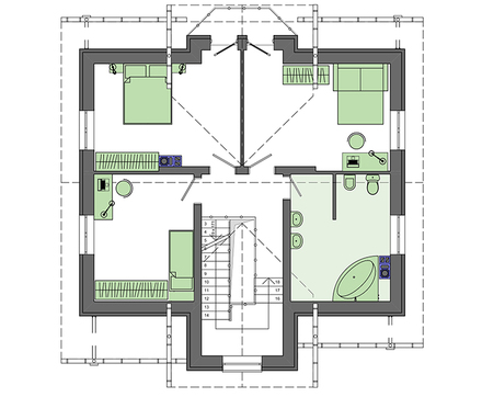 Проект дома 4m3757 план
